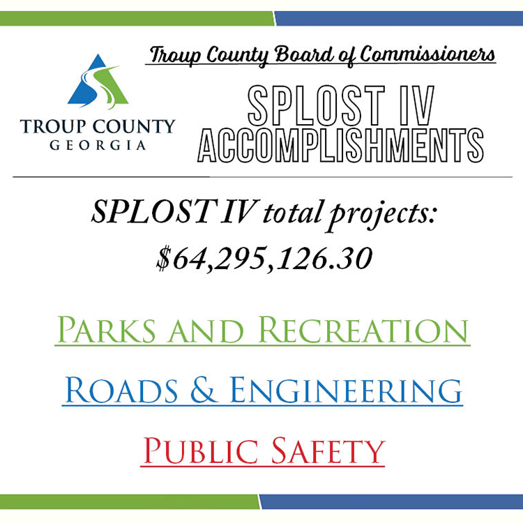 SPLOST IV Accomplishments flyer